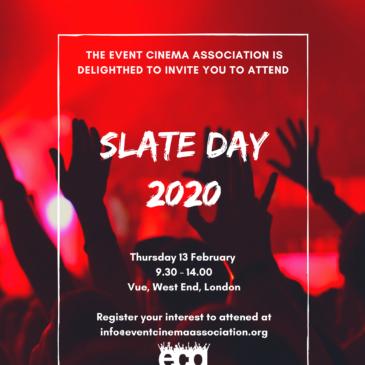 ECA Slate Day 2020 – Thursday 13 February
